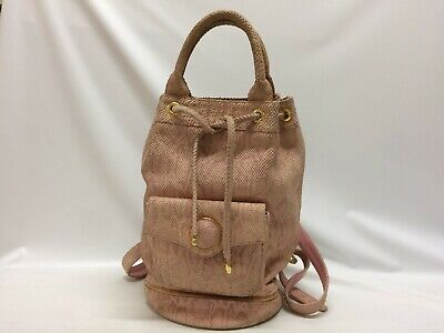 Authentic GIANNI VERSACE Backpack Pink 9E290120F""