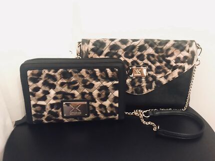 Kardashian Collection leopard print set.