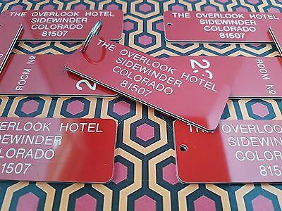 OVERLOOK HOTEL KEY RING, THE SHINING, JACK NICHOLSON, NOVELTY TAG