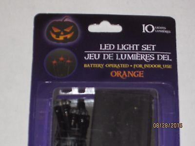 Halloween  Lights 10 LED Orange B/O Lights - Decorate Door, Centerpieces, Mantle (Halloween Mantel Decor)