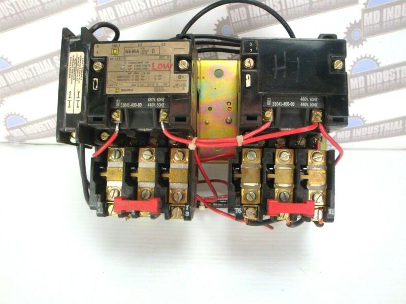 Square-D 8810SBO1S Size 0 Two-Speed Reversing Starter 230/460V Coil 2-Speed