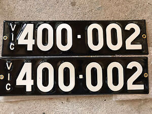 Enamel Vic Number Plate, Heritage Style Melbourne CBD Melbourne City Preview