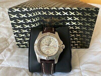 Breitling Superocean Steelfish A17390 Men's Wristwatch Brown Leather Bracelet
