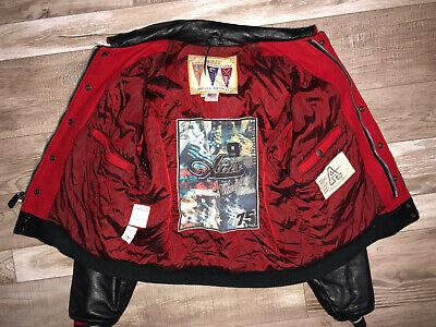 Blouson teddy cuir laine drapeau usa avirex usa 75 taille m vintage collector