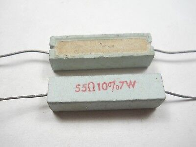 QTY 10 ea I57 47K ohm 2 Watt 10/% Wire Wound Resistor NOS, New Old Stock