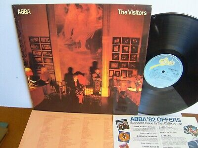 ABBA - The Visitors  EPC 10032 UK LP  1981 Epic  One Of Us  + Merchandise insert