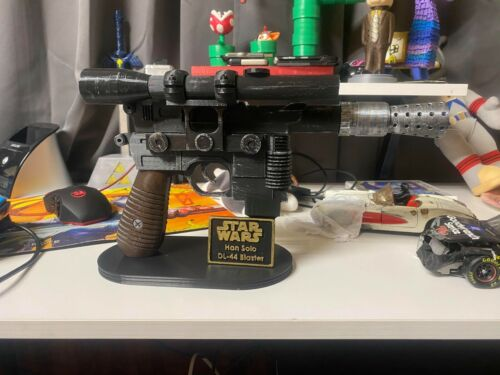 Han Solo Dl-44 Blaster (Fully Assembled and Painted!) Stand Included!!