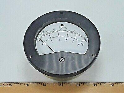 Vintage Ohms Panel Meter Gauge Dc - Ac - General Meters 391-c  Model 400-r