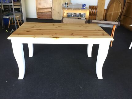 Solid Pine Hamptons Style Dining Table  (6-seater)