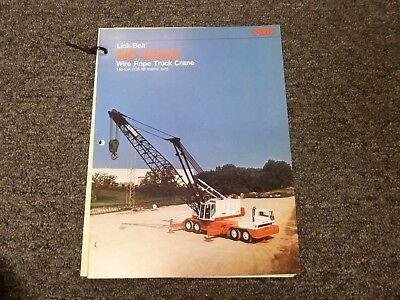 Link-belt Model Hc238a Truck Crane Specifications Lifting Capacities Manual