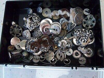 Vintage Silver metal buttons  3+ Ounces