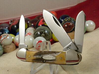 CASE XX USA 53131 CANOE KNIFE MINT 9 DOT 1981 NICE STAG