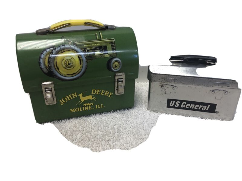 Vintage John Deere & US General  Small Lunch Boxes
