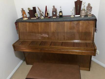 Beautiful Albert H Fox Upright Piano and Stool
