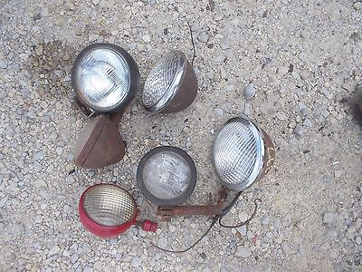 6 Farmall Ih Ford Jd Massey Tractor Front Rear Head Light Lights Bracket