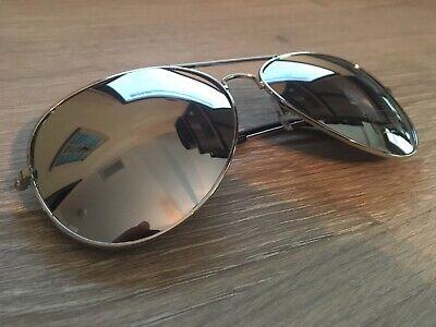 Silver Aviator Pilot Style Metal Sunglasses Frame Shades UV400 (Aviator Sunglasses Silver Frame)
