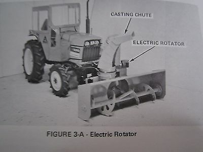1979 Allis Chalmers Model 64 Snow Blower For 5020 5030 Tractor Operators Manual