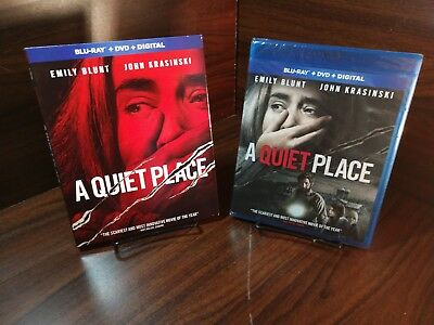 A Quiet Place  (Blu-ray+DVD,2018)w/Collector Slipcover-Not Used-No Digital Code (Halloween Spooky Movies)