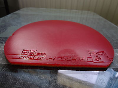 used table tennis rubber Andro HEXER  W150mm x H155mm