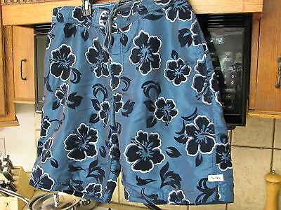 Hurley vintage 1990's velvet flowers nylon surf board shorts 34 waist 999