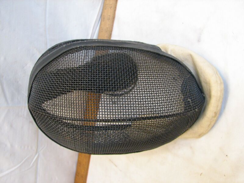 Vintage Joseph Vince Fencing Mesh Mask Helmet Full Face Neck Guard