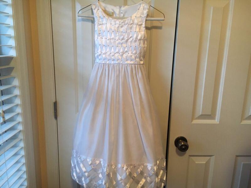 Little Girls American Princess White Formal Dress Size 8