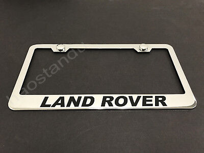 1x LandRover STAINLESS STEEL LICENSE PLATE FRAME + Screw Caps