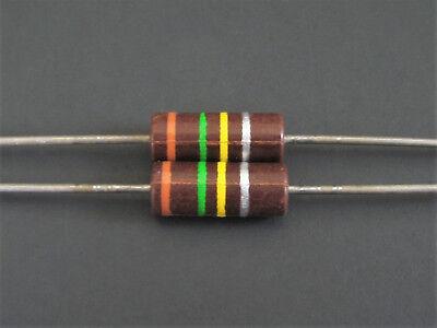2 1w 10 Carbon Comp Resistors Ohmite Allen Bradley Vintage Nos Og Series