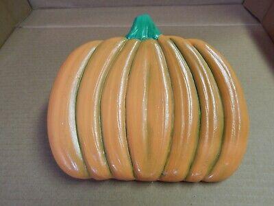 Vintage Hand Painted Ceramic Orange Pumpkin Saucer Plate Dish Halloween Fall