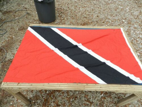 Vintage Big Ship Cloth Flag TRINIDAD   3 ft X 5 ft