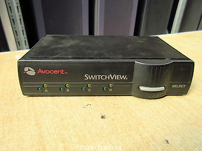 Avocent Cybex SwitchView 4-Port 520-195-005 KVM Switch Keyboard Mouse EXCL PSU