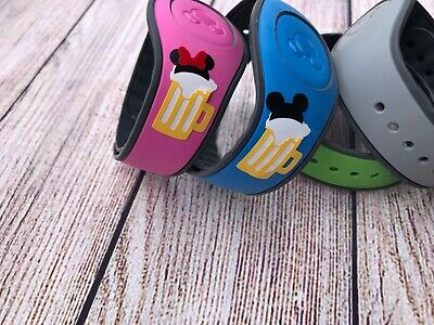 His Beer ( Set of 2 Disney Magic Band Decals stickers His & Her Mickey Minnie Beer )