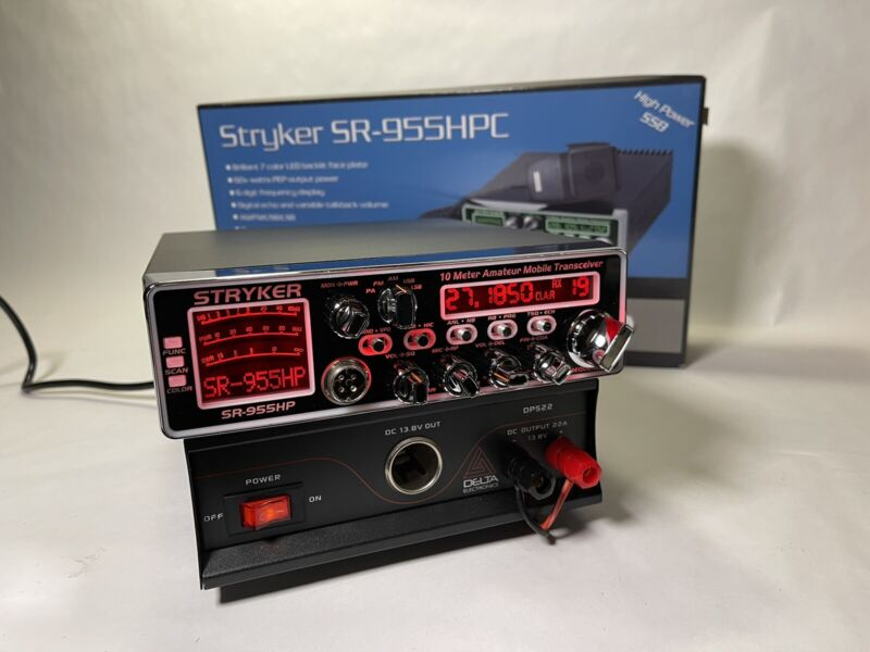 STRYKER SR-955HPC & DPS22 Power Supply 10 Meter Radio PRO TUNED AND ALIGNED LOUD