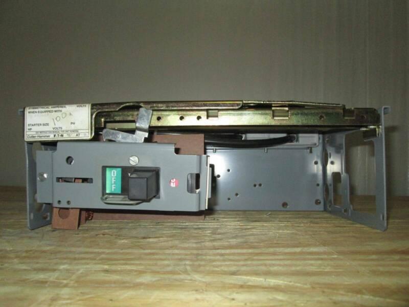 """Cutler-Hammer Eaton Unitrol F10 60 Amp Breaker Feeder MCCB MCC Bucket 6"""" 60A"""