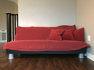 Futon w/ Cover & Pillows