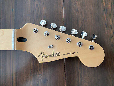 "2020 Fender Jimmie Vaughan Stratocaster Strat NECK & TUNERS Parts Maple ""V"""