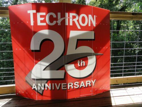 """4 CHEVRON TECHRON HUGE FOLDING OUTDOOR SIGNS 48"""" X 42"""", UNUSED, EXC+"""