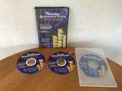 """TURNING BANKRUPTCIES INTO GOLD """"LIVE"""" SEMINAR COURSE BY MARK KLEE - 2 DVD"""