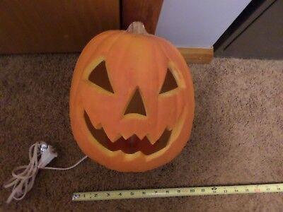 Scary Halloween Blow Ups (Scary Halloween Pumpkin Foam Blow Mold Light Up Jack Lantern Trendmasters)