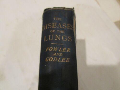 Diseases Lungs Book Fowler Godler c1898 Original Rare 160 illustrations