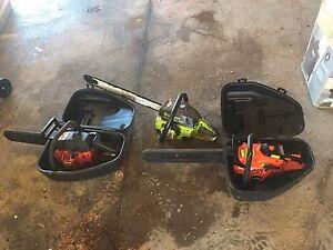 Three chainsaws