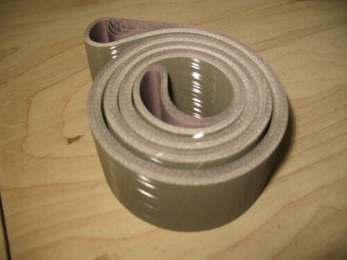 "5 pcs. 2 x 72"" 600 grit 3M Trizact A30 knife grinding / sanding belts"
