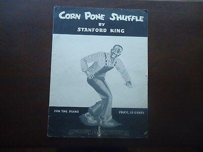 CORN PONE SHUFFLE 1943 STANFORD KING  SONG BOOK BLACK AMERICANA