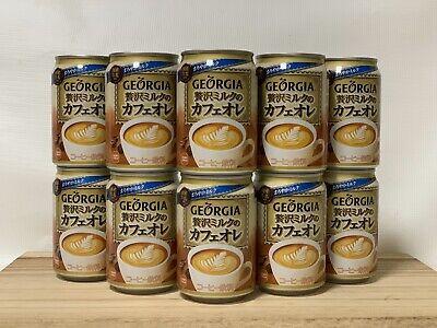 GEORGIA COFFEE LUXURY MILK CAFE AU LAIT (10 CANS) Au Lait Coffee