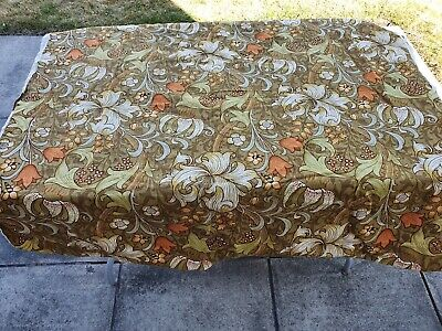 VINTAGE Sanderson - William Morris -Quality Linen Fabric Golden Lily 260cmx117cm for sale  Doncaster