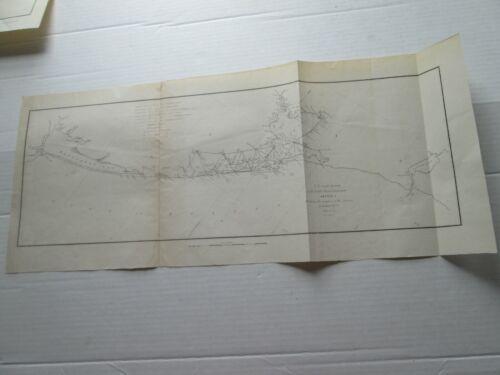 ONE (1) 1848-1853 COAST SURVEY TRIAGULATIONS S-I,NO.9, TX GALVESTON-LAVACA BAY