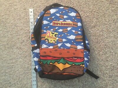 NWT Bob's Burgers Flying Hamburger Laptop Backpack - Flying Burgers](Hamburger Backpack)
