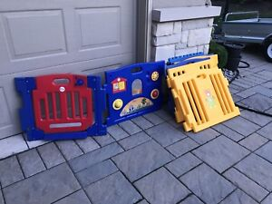 Baby safety gate and play activity center