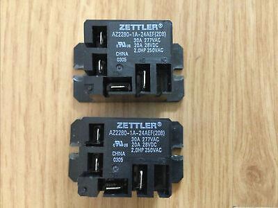 2 - Zettler Mini Power Relay Spdt 120v 30a Az2280-1a-24aef208