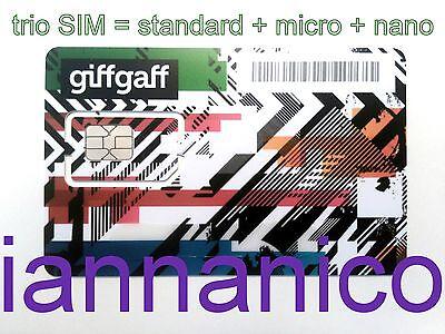 SIM- карты UK PAYG GIFFGAFF Trio/Triple